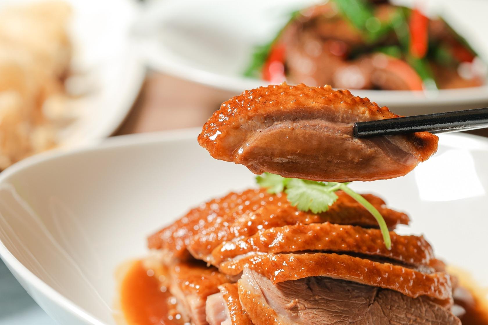 晶華軒推出的陳皮老薑碌鵝,現如要吃,需先預訂。(圖片:晶華軒提供)