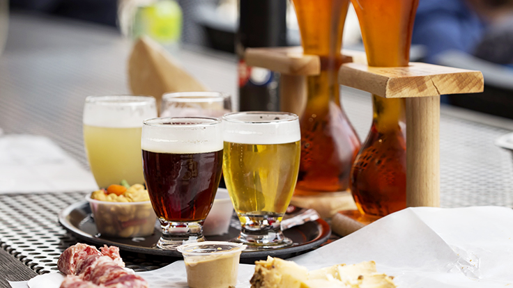 Different types of Belgian beer. Photo © Sebalos/iStock