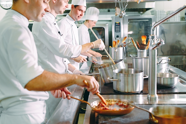 Chefs may not be as cool, calm and collected as shown on a stock image photo... (© Shutterstock)