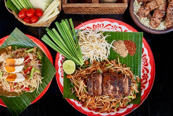 ผัดไทยจากร้านบ้านผัดไทย รางวัลบิบ กูร์มองด์ (© Baan Phadthai)