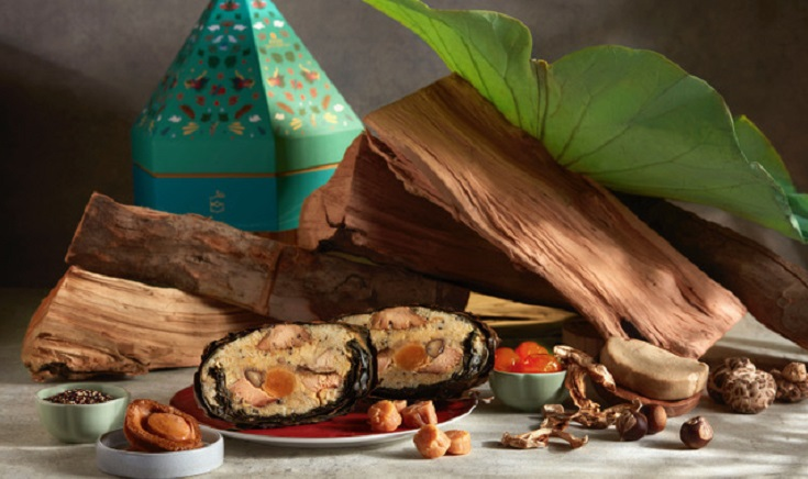 Shang Palace Apple wood-smoked Rice Dumpling (Pic, above and banner: Shangri-La Singapore):