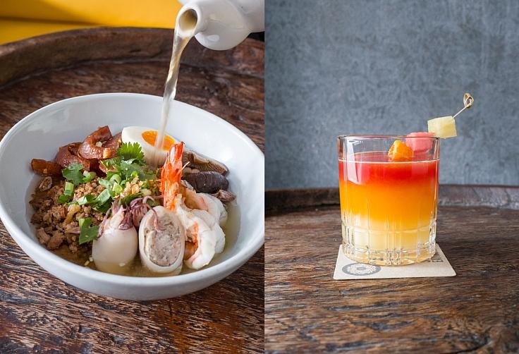 อาหารเช้าร้อน ๆ ข้าวต้มแห้งไข่ยางมะตูมกับซุปเครื่องเทศไทย และน้ำผลไม้รับอรุณจากสุพรรณิการ์  (© Supanniga Eating Room)