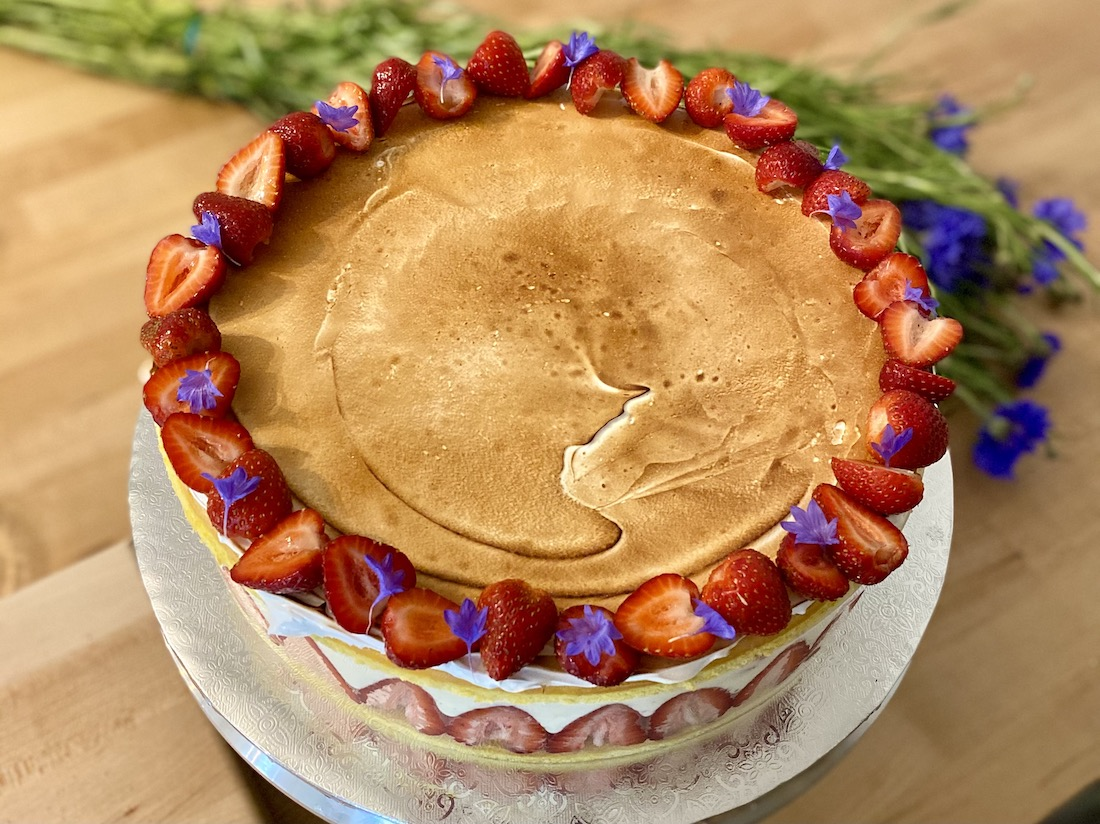 Fraisier cake. Photo courtesy Pavé Bakery