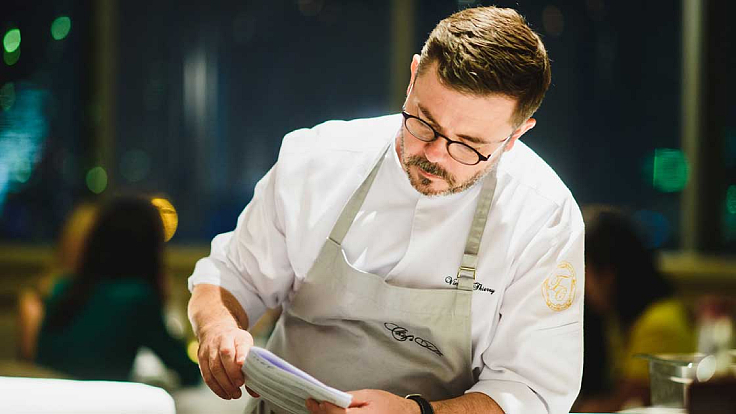 The French chef from Loire Valley enjoys cooking with his foodie family. (© Chef's Table)