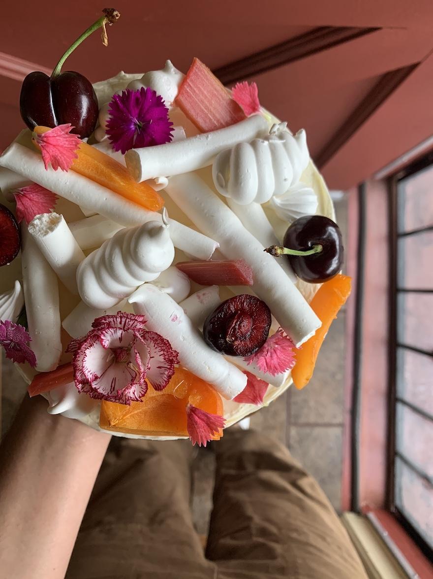 May Microbakery's rhubarb cardamom cake. Photo courtesy Sasha Piligan