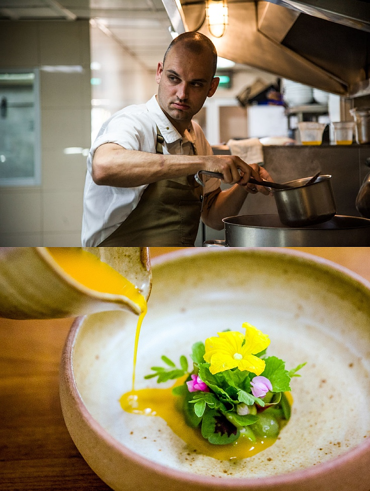 Chef Jimmy Ophorst and his from farm-to-table menu at PRU. (© PRU)