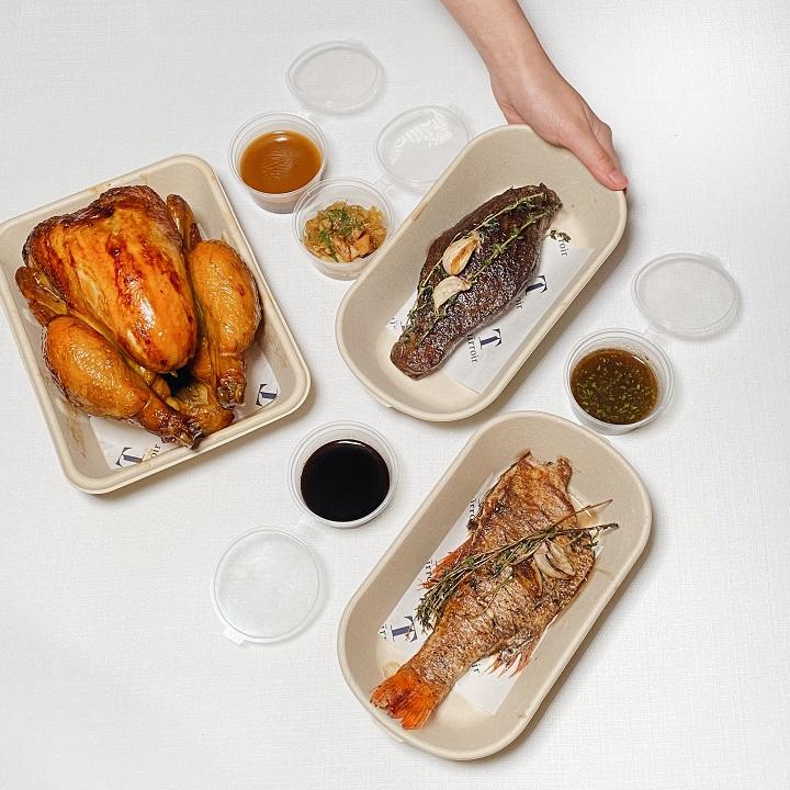 態芮推出副品牌 Taïrroir À la Maison。主餐推出法式烤全雞與市場鮮魚。(圖片:Taïrroir À la Maison 提供)