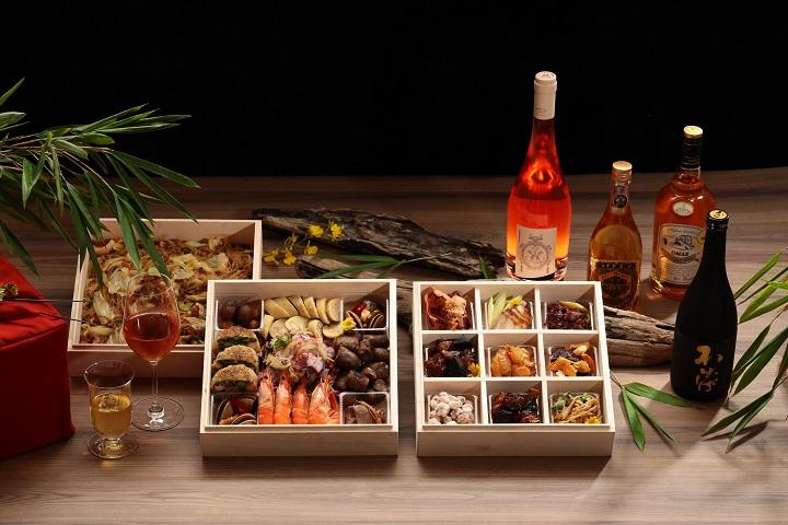米其林一星餐廳山海樓推出的「山海珍寶盒‧台味下酒菜」。(圖片:山海樓提供)