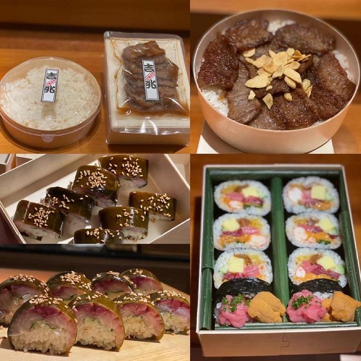 吉兆推出的各式外帶美食。(圖片取自吉兆割烹壽司臉書)。