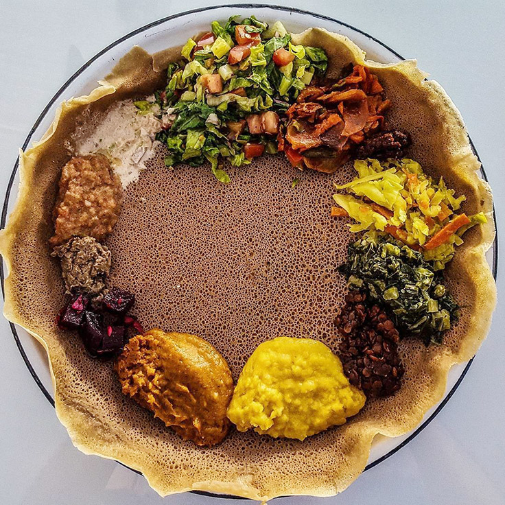 Meals by Genet's veginatrian combination. Photo © thewritefood/Instagram