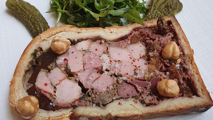 Le pâté en croûte « grande tradition » du Bistrot Saint-Sauveur © Michelin