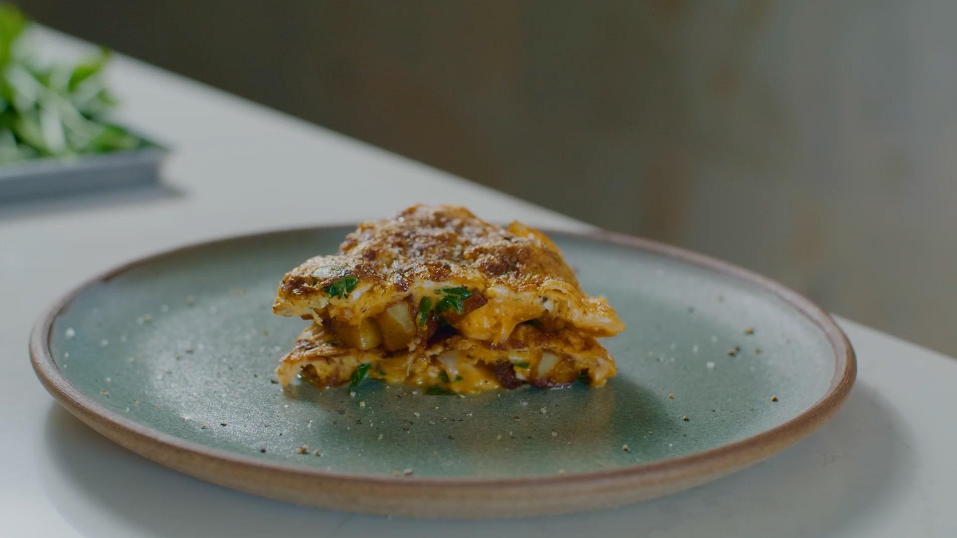 Chef Nicolas' potato omelette