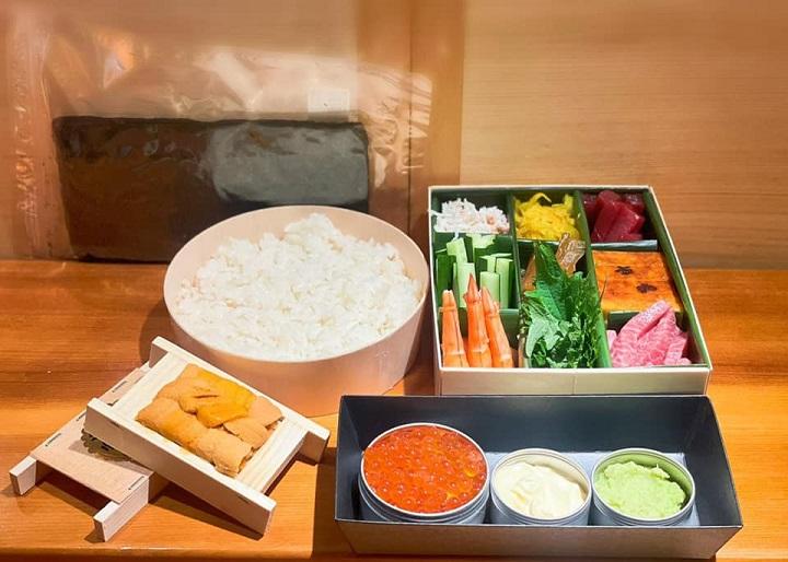吉兆割烹壽司推出的 DIY 九宮格壽司組合。(圖片取自吉兆割烹壽司臉書)