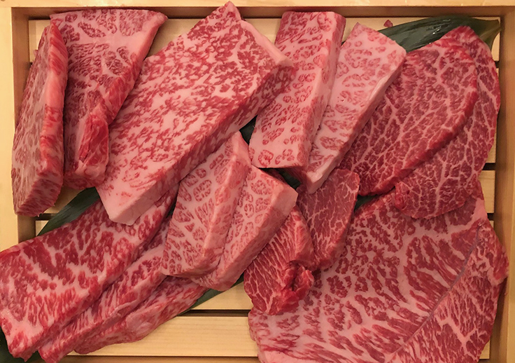 Hyun's Wagyu selection. Photo by Michelin North America