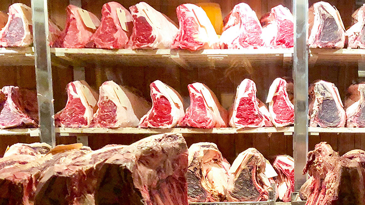 Gallagher's meat locker. Photo by Michelin North America