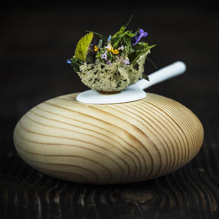 Herbes et aromates du jardin, les jeunes pousses du jour ©Matthieu Cellard