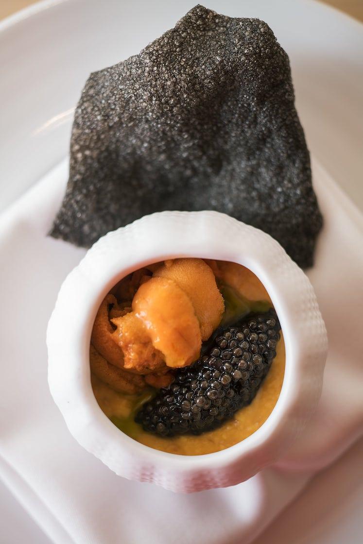 Uni and Caviar with Creamy Scrambled Egg-sushiyoshi-hong-kong.jpg