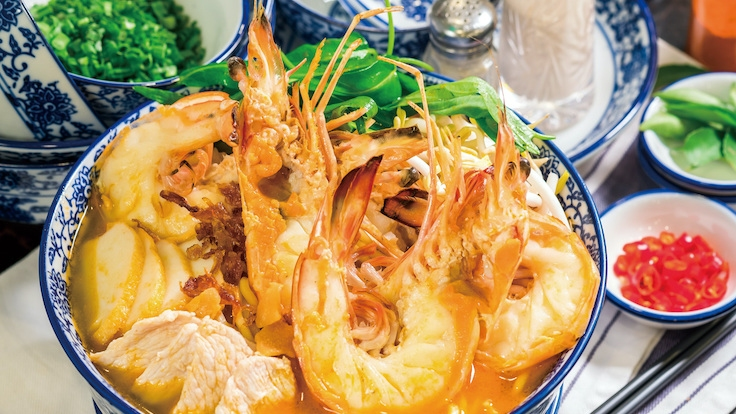 大食家招牌的虾面。(图片:大食家)