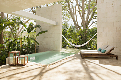 Each casita at Chablé Yucatán has a private pool. Photo courtesy of Chablé Yucatán