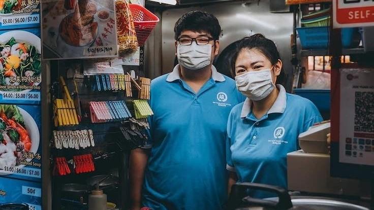 Siblings Jason, 28, and Tsering, 30, oversee the day-to-day operations of Jun Yuan House of Fish