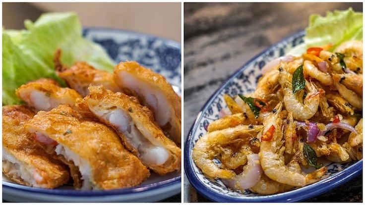 Beancurd Skin Prawn Roll and Crispy Shrimps
