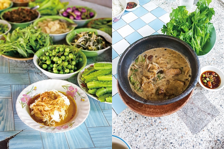 Khanom chin pa son and bak kut teh. (© MICHELIN Guide Thailand)