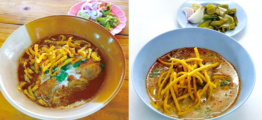Delicacies from Khao Soi Lamduan Faham and Khao Soi Samerjai. (© MICHELIN Guide Thailand)