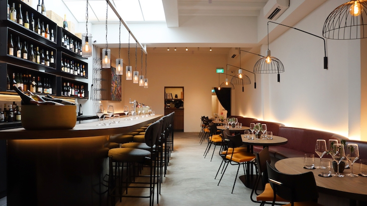 Club Street Wine Room is the first wine bar by Cure Concepts. (Photo by Club Street Wine Room)