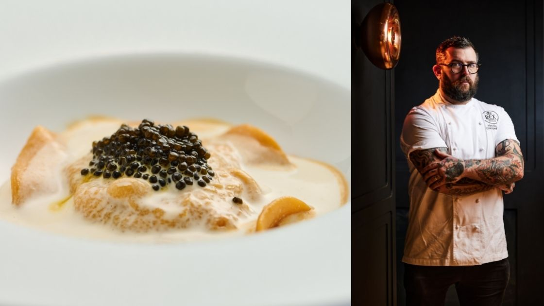 (Left) Rex Wine & Grill's lobster and scallop ravioli; (Right) Chef Nathan Green (Photo: Courtesy of Rex Wine & Grill)