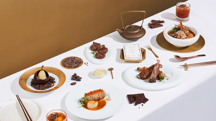 Madame Fan at JW Marriott showcases an array of modern Cantonese dishes with a chocolatey twist. Available until Nov. 21. (Photo by Marriott Bonvoy)