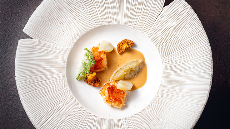 Mélisse's beautifully plated dish. Photo by Jeff Couch, courtesy of Mélisse