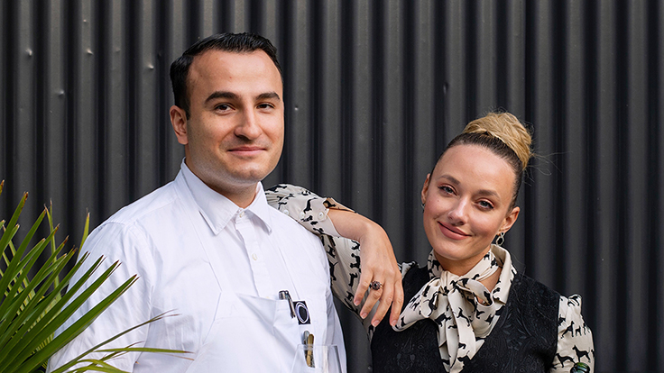 Californios co-owner and beverage director Charlotte Randolph with chef-co-owner Val Cantu. Photo by Adahlia Cole