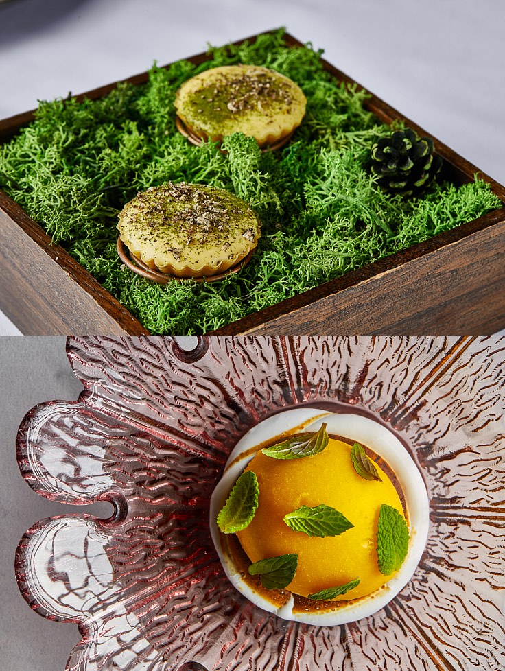The egg-cellent menus by Chef Goh that you can try at Mia. (© Mia)