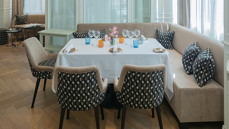 Une nouvelle salle pour le restaurant de Frédéric Simonin © G. Rouzeau / Michelin