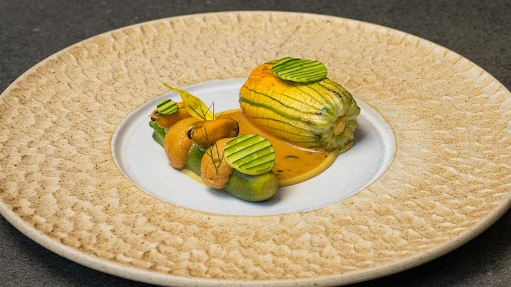 At Sommer, menus are designed according to the seasons, with vegetables such as zucchini flowers as part of the entrées. (Photo by Sommer)