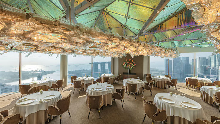 JAAN by Kirk Westaway was awarded two MICHELIN Stars in the MICHELIN Guide Singapore 2021.
