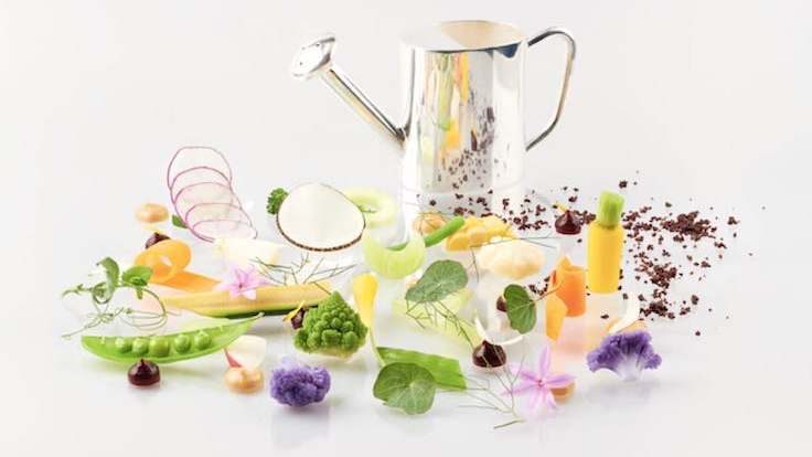 """The English Garden, part of the """"Reinventing British"""" launch menu, is a reflection of Westaway's childhood summers where he would enjoy bowls of salad prepared by his mother."""