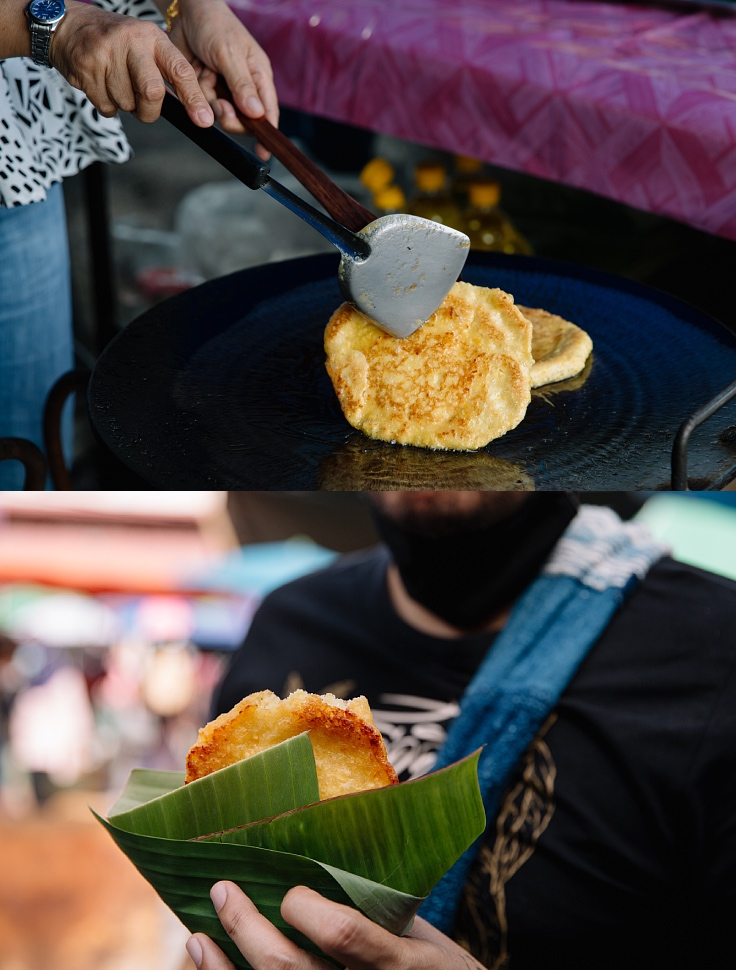 Muslim corn snacks that the chef recommends you try. (© Jirawat Veerakul / MICHELIN Guide Thailand)
